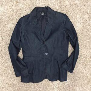 Medium Petite Denim-Colored Dressy Jacket